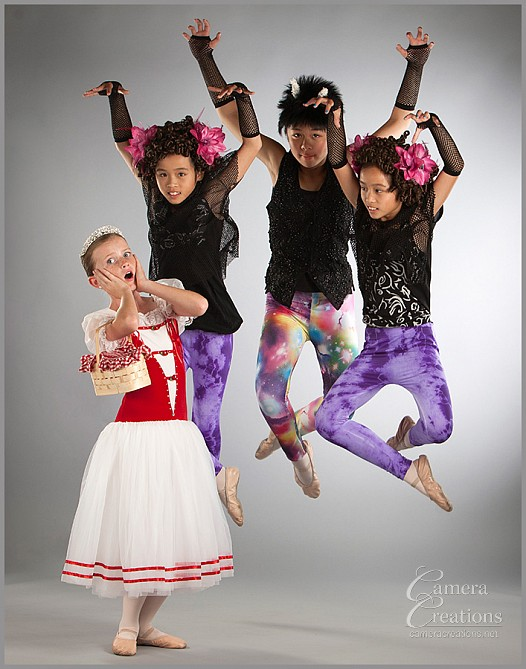 Dance school portrait photography in San Diego by Camera Creations LLC.