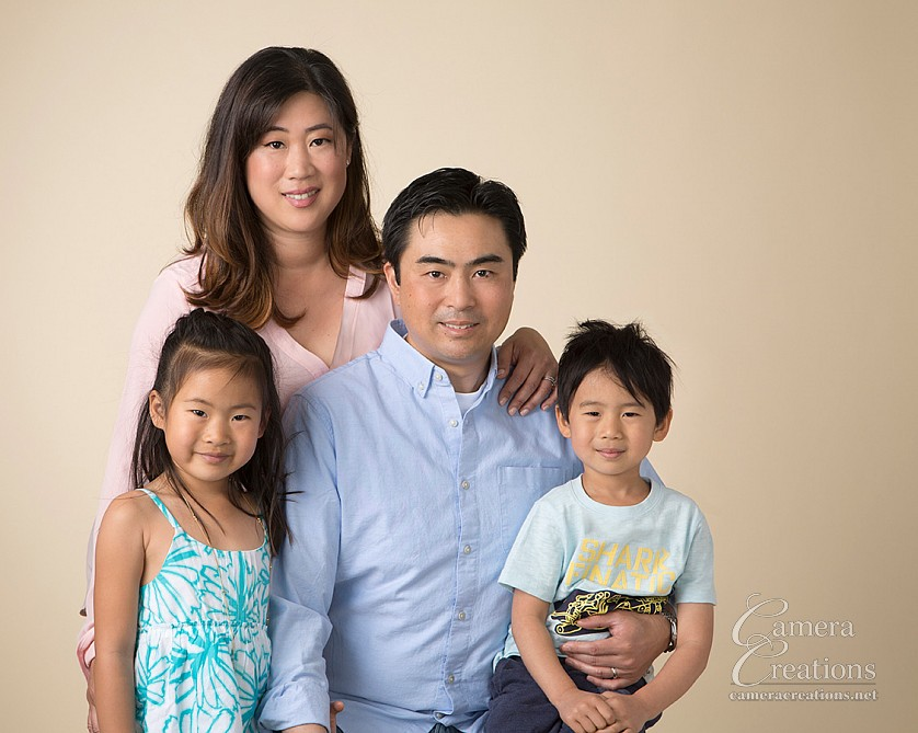 Family portrait session at Camera Creations LLC studio in Los Angeles.