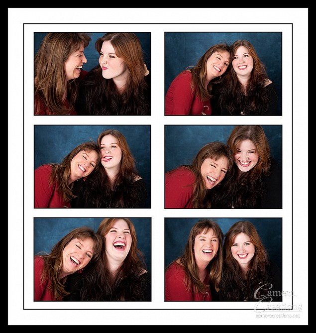 Family portrait photography session at Camera Creations LLC studio in Los Angeles, Mother and daughter.