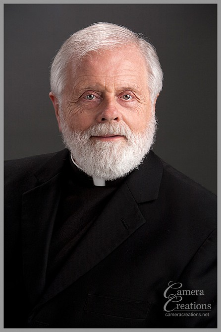 Father Thomas Welbers: pastor at Church of the Good Shepherd photography session at Camera Creations LLC.