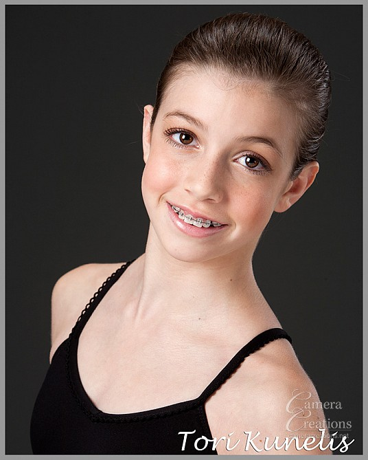 Headshot of a young ballet dancer at Camera Creations LLC in Los Angeles.