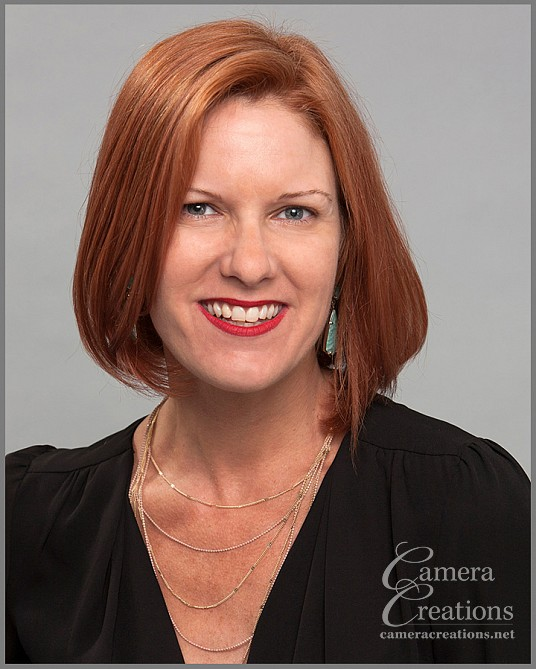 Business headshot photography session in Los Angeles at Camera Creations LLC studio. Hair colorist, Beverly Hills.