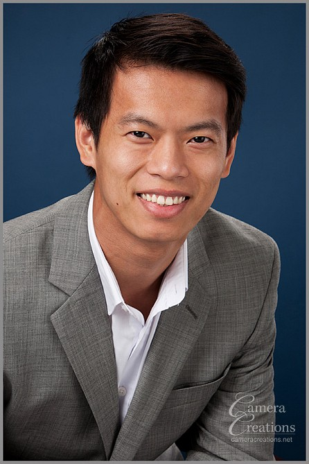 One person of a corporate business headshot session for the entire BKI team of engineers.
