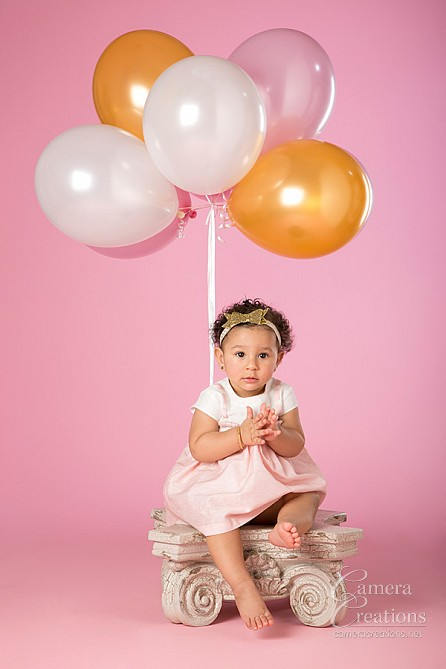 Baby photography session at Camera Creations portrait studio. #babyportraits, #babyphotos, #firstyearportrait