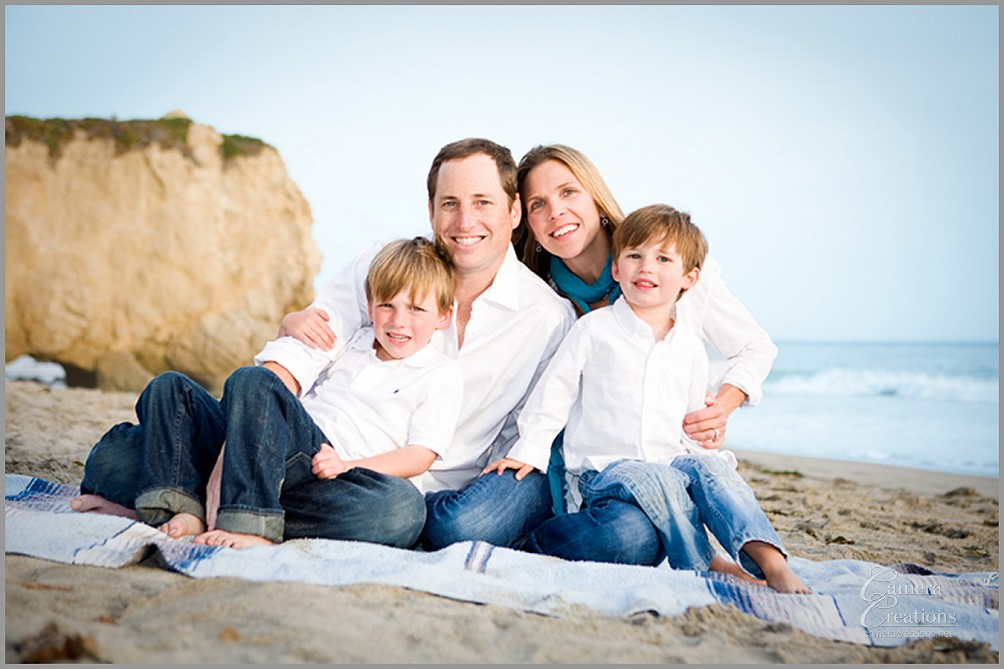 Family portrait photography session at El Matador state beach.