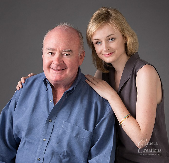 Father and daughter at family portrait photography session at Camera Creations LLC in Los Angeles, CA.