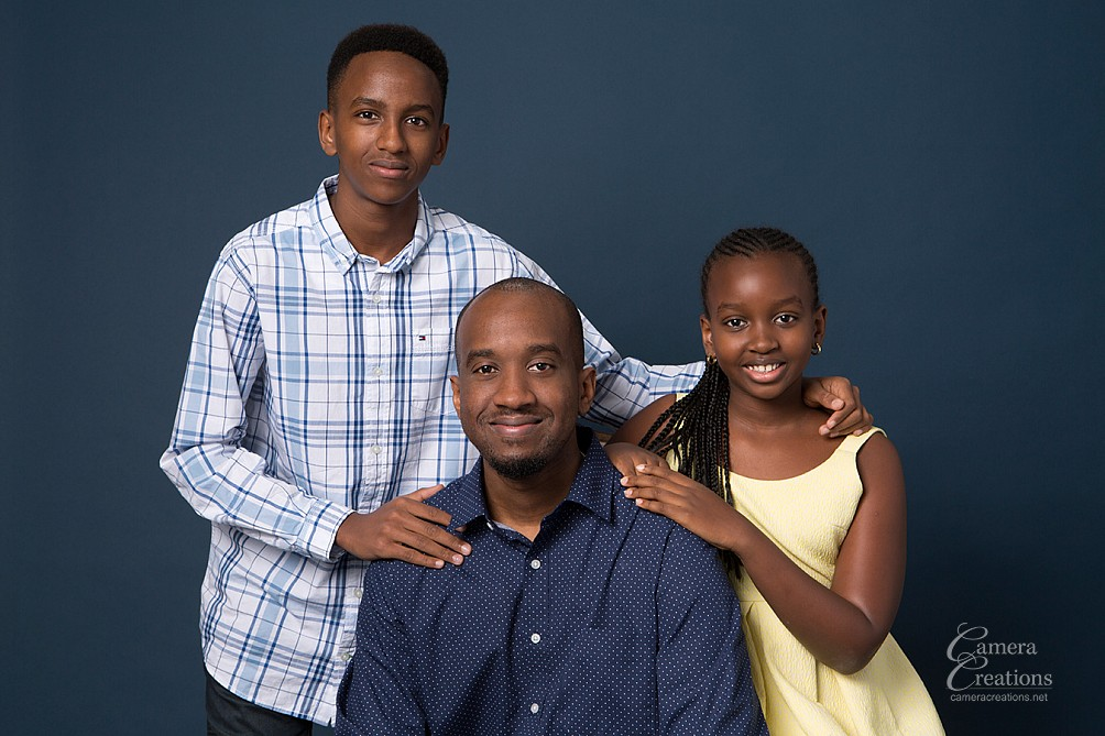 Family portrait session at Camera Creations Photography photo studio in Los Angeles.